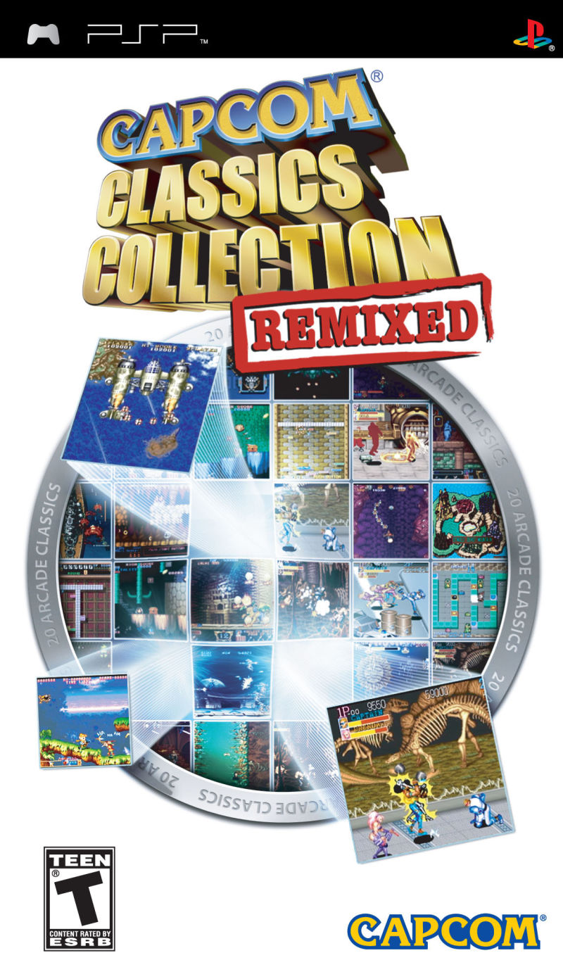 Capcom Classics Collection Remixed PSP Front Cover