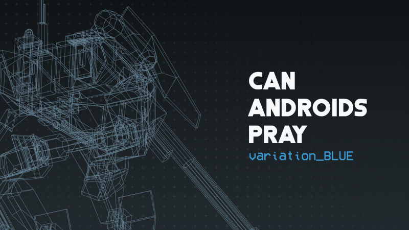Can Androids Pray: variation_Blue Nintendo Switch Front Cover