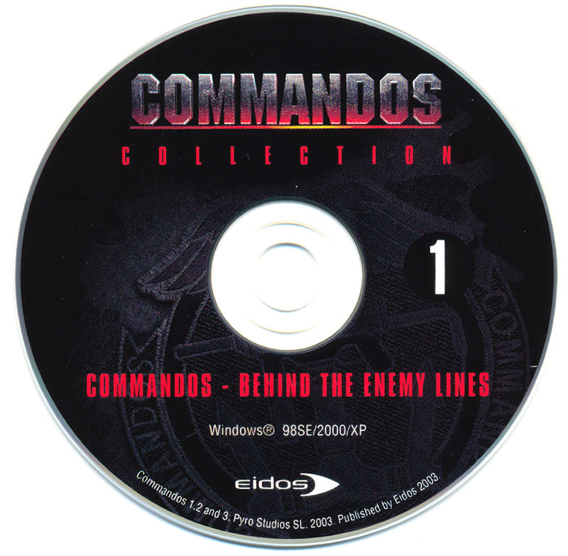 Commandos Collection Windows Media Disc 1/8