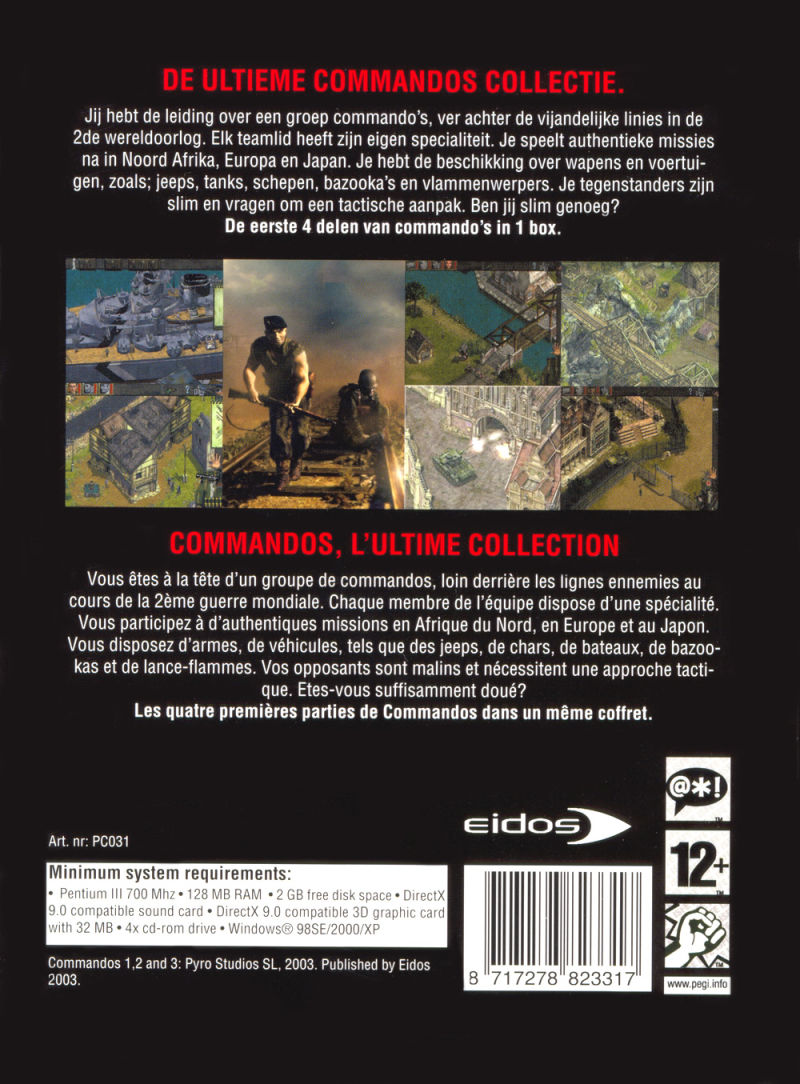 Commandos Collection Windows Back Cover