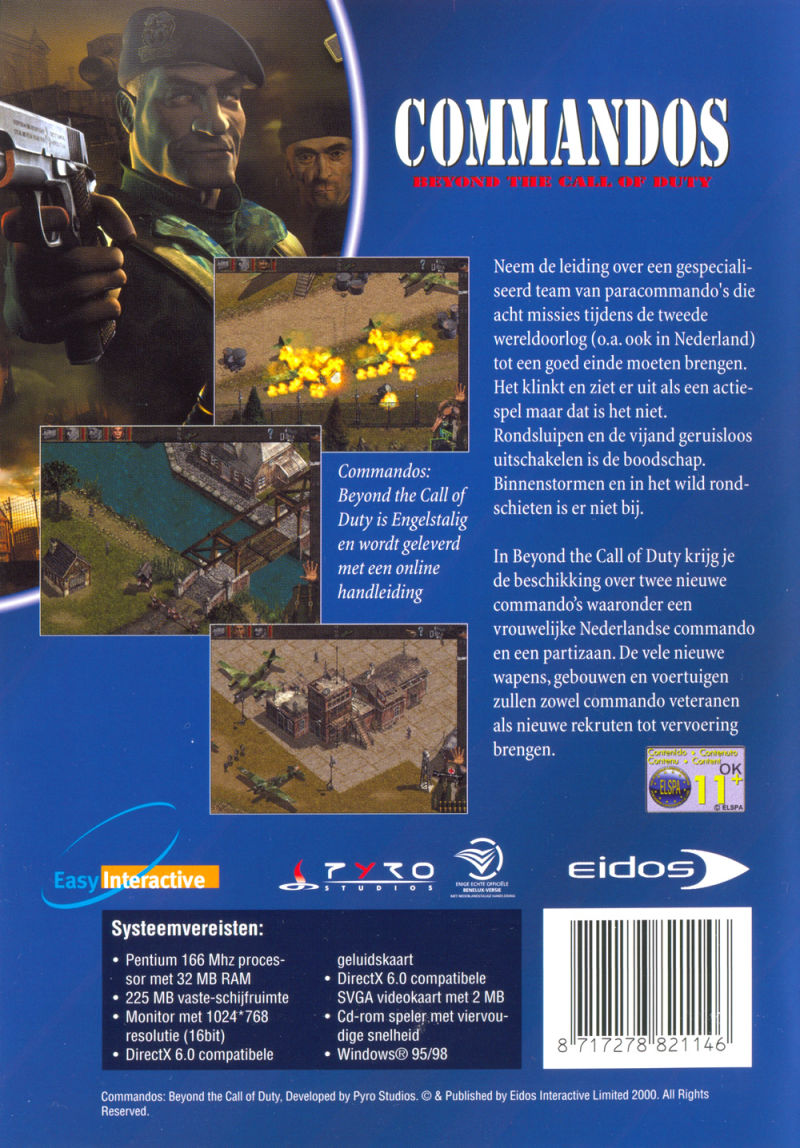 Commandos Collection Windows Other Keep Case - Back (Beyond the Call of Duty)
