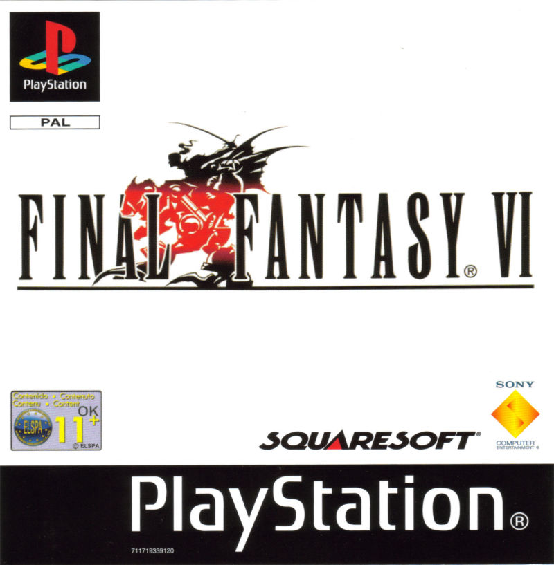 Final Fantasy III PlayStation Front Cover