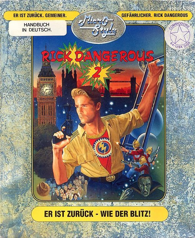 Rick Dangerous 2 Commodore 64 Front Cover