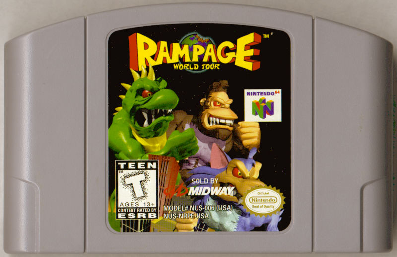 Rampage World Tour Nintendo 64 Media
