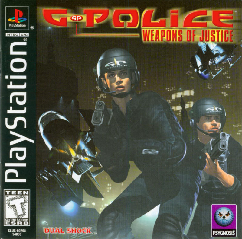 G-Police: Weapons of Justice PlayStation Front Cover