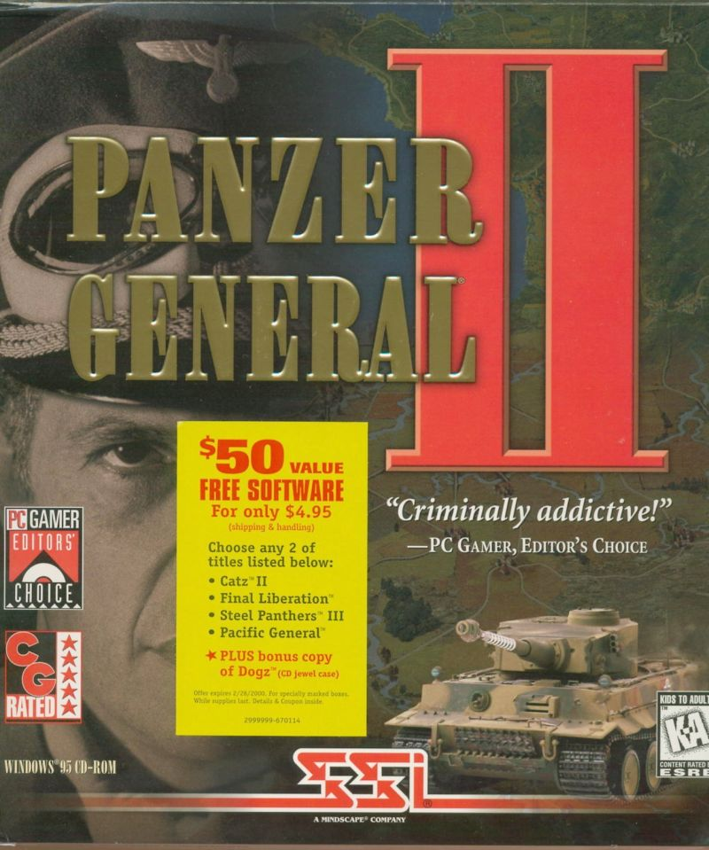 Panzer General II Windows Front Cover