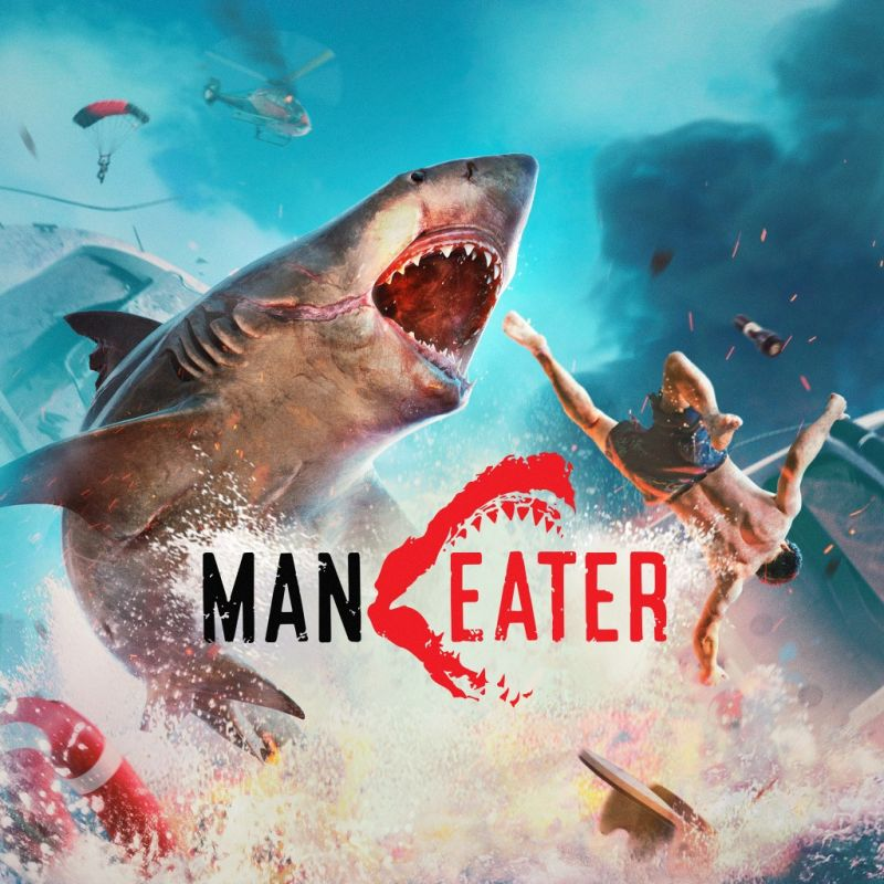Maneater PlayStation 4 Front Cover