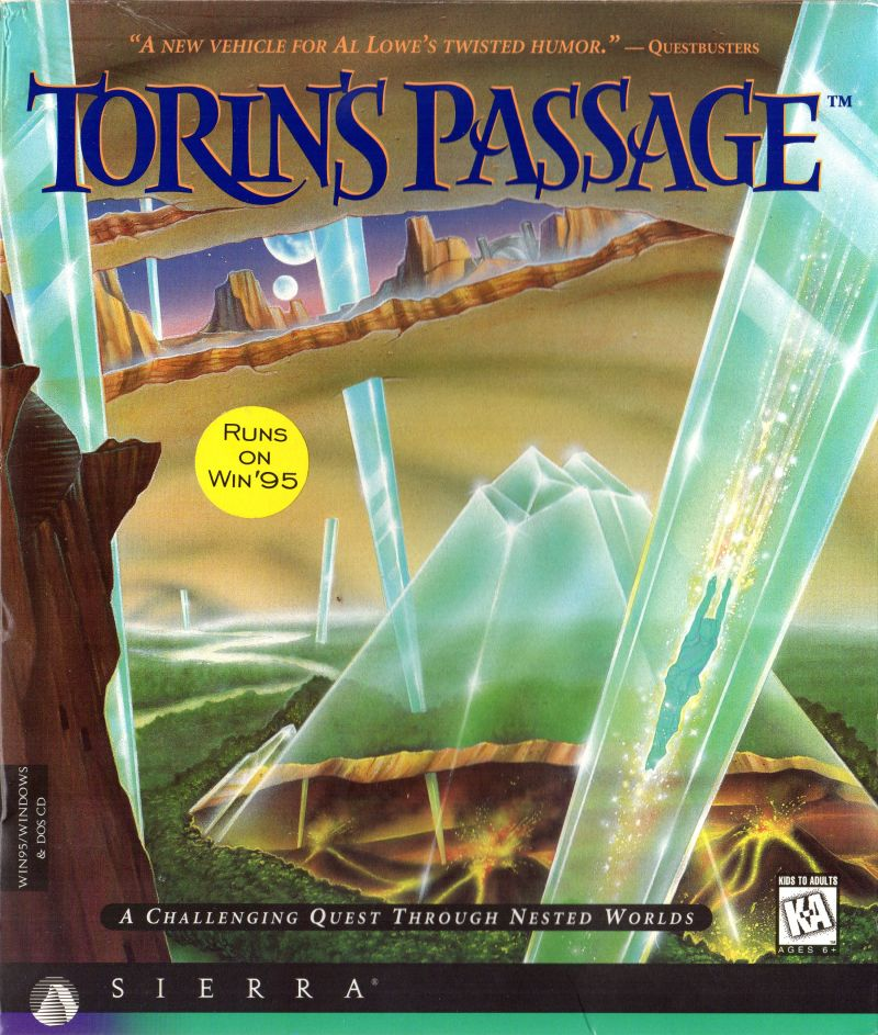 Torin's Passage DOS Front Cover