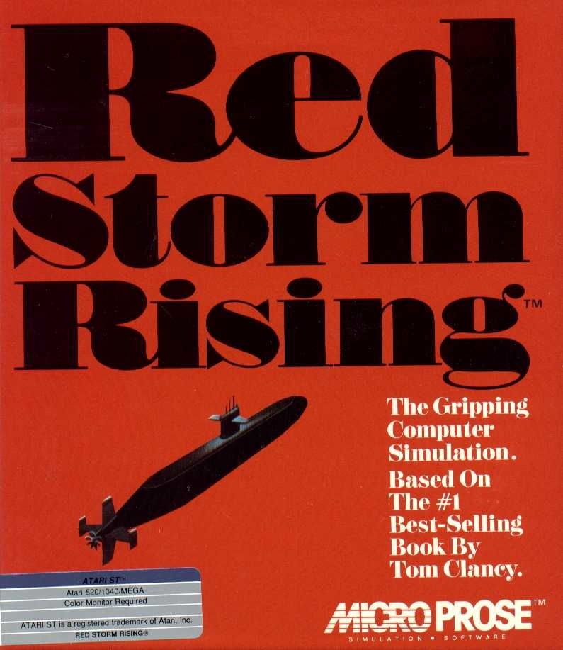 Red Storm Rising Atari ST Front Cover