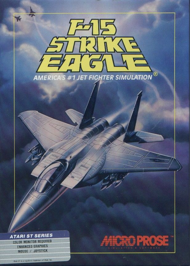 F-15 Strike Eagle Atari ST Front Cover