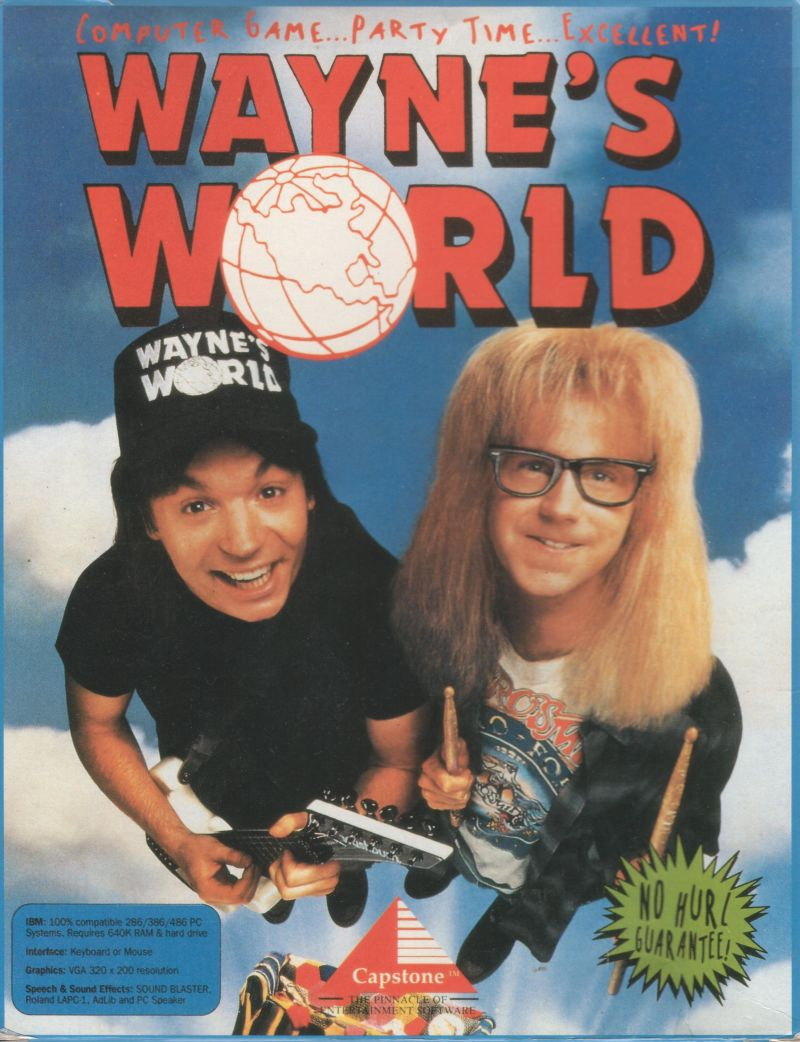 Wayne's World DOS Front Cover