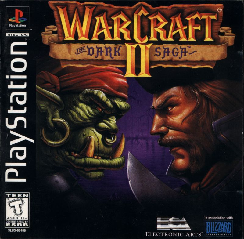Warcraft II: The Dark Saga PlayStation Front Cover