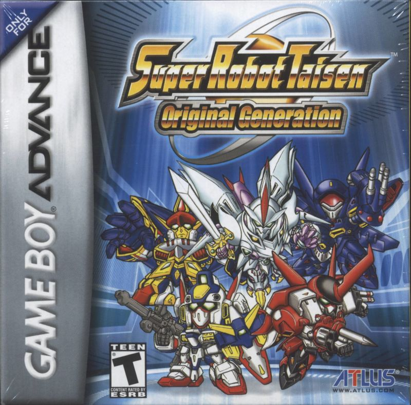 Super Robot Taisen: Original Generation Game Boy Advance Front Cover