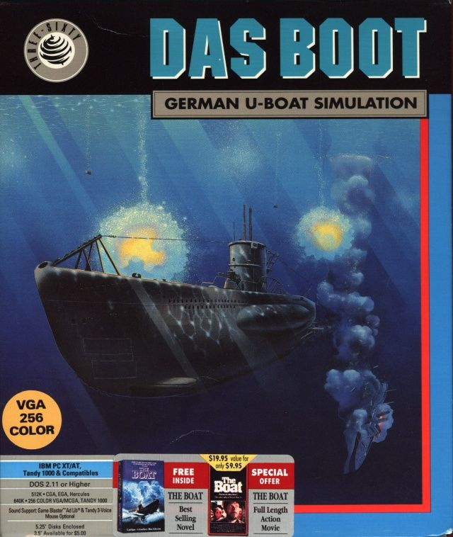 Das Boot: German U-Boat Simulation DOS Front Cover