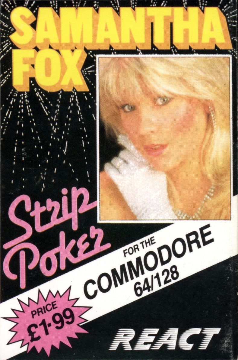 Samantha Fox Strip Poker Commodore 64 Front Cover
