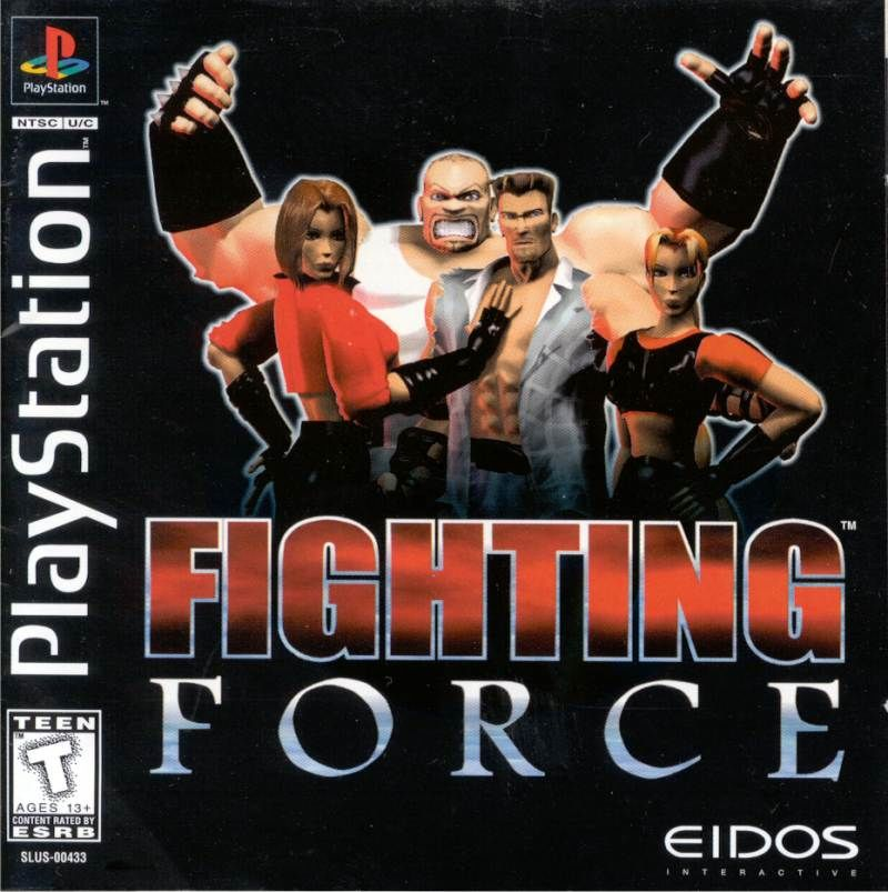 Fighting Force PlayStation Front Cover