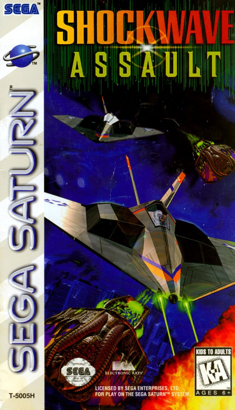 Shockwave Assault SEGA Saturn Front Cover