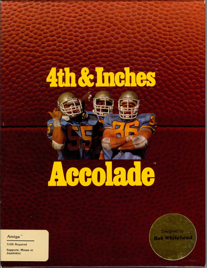 4th & Inches Amiga Front Cover