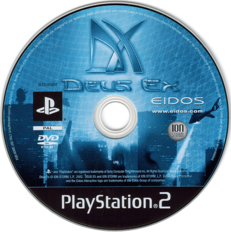 Deus Ex PlayStation 2 Media