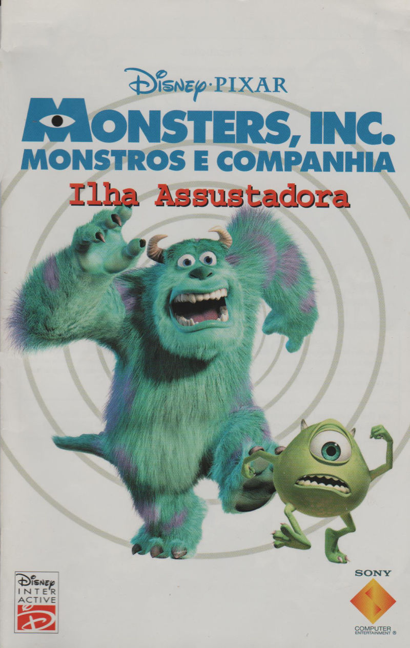 Disney Pixar S Monsters Inc Scare Island 2001 Box Cover Art Mobygames
