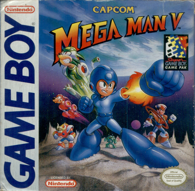 Mega Man V Game Boy Front Cover
