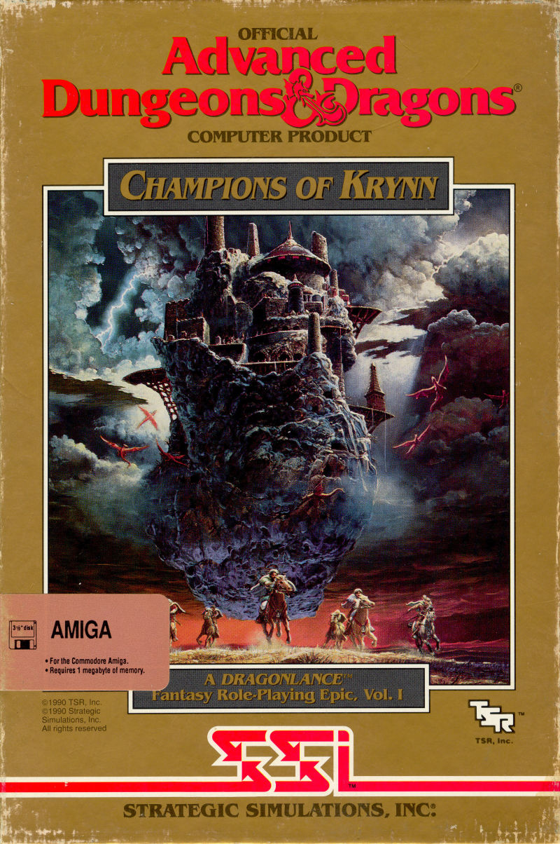 Champions of Krynn Amiga Front Cover