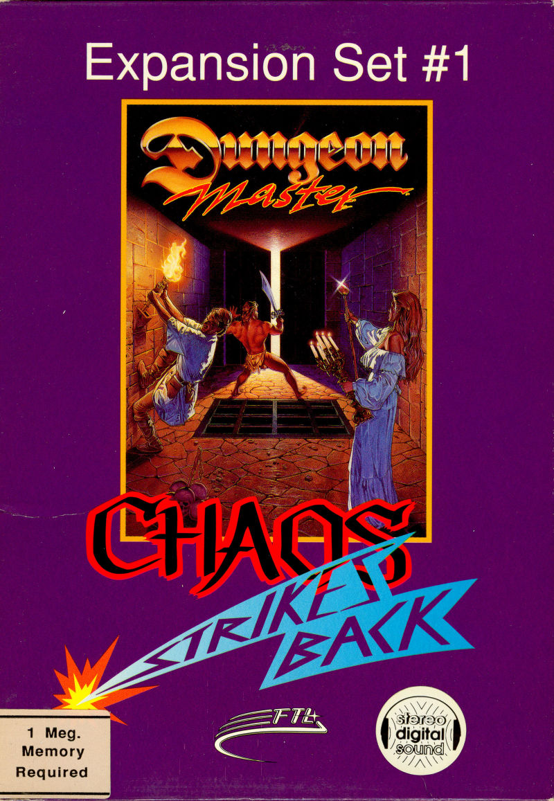Dungeon Master: Chaos Strikes Back - Expansion Set #1 Amiga Front Cover