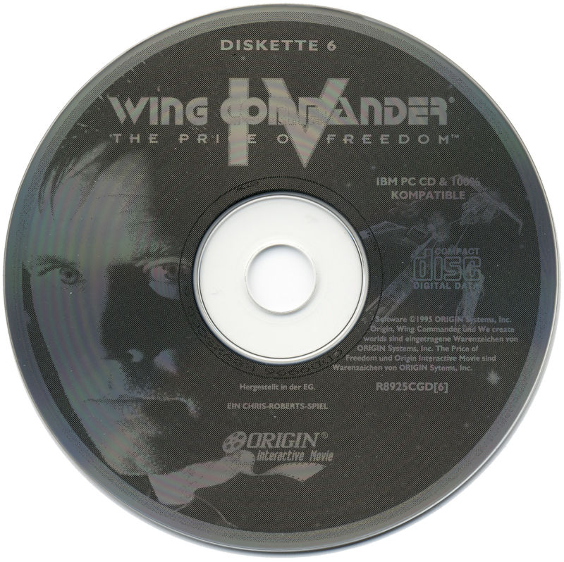 Wing Commander IV: The Price of Freedom DOS Media Disc 6