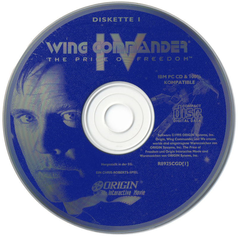 Wing Commander IV: The Price of Freedom DOS Media Disc 1