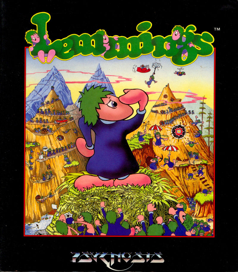 Lemmings Amiga Front Cover