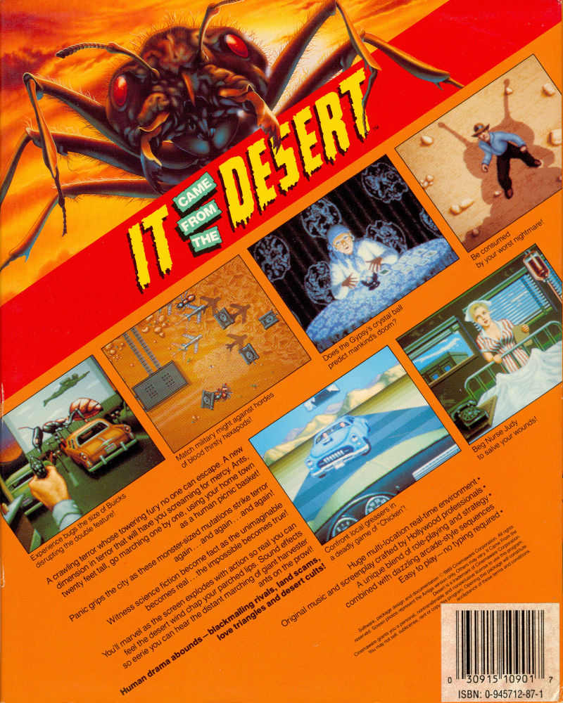 It Came From The Desert 1989 Amiga Box Cover Art Mobygames