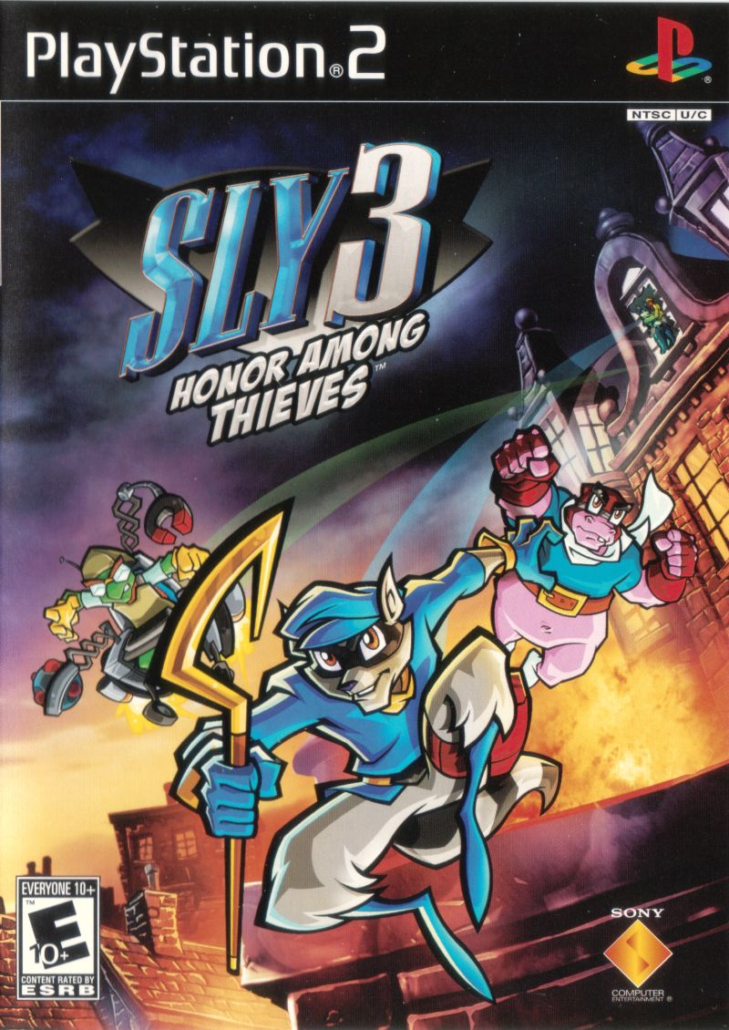 Sly 3: Honor Among Thieves PlayStation 2 Front Cover