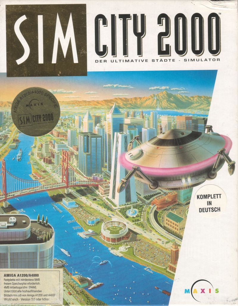 SimCity 2000 Amiga Front Cover