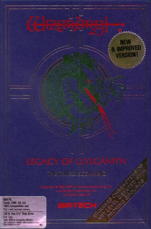 Wizardry: Legacy of Llylgamyn - The Third Scenario PC Booter Front Cover