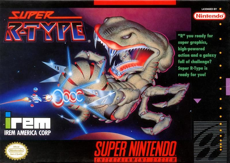Super R-Type SNES Front Cover