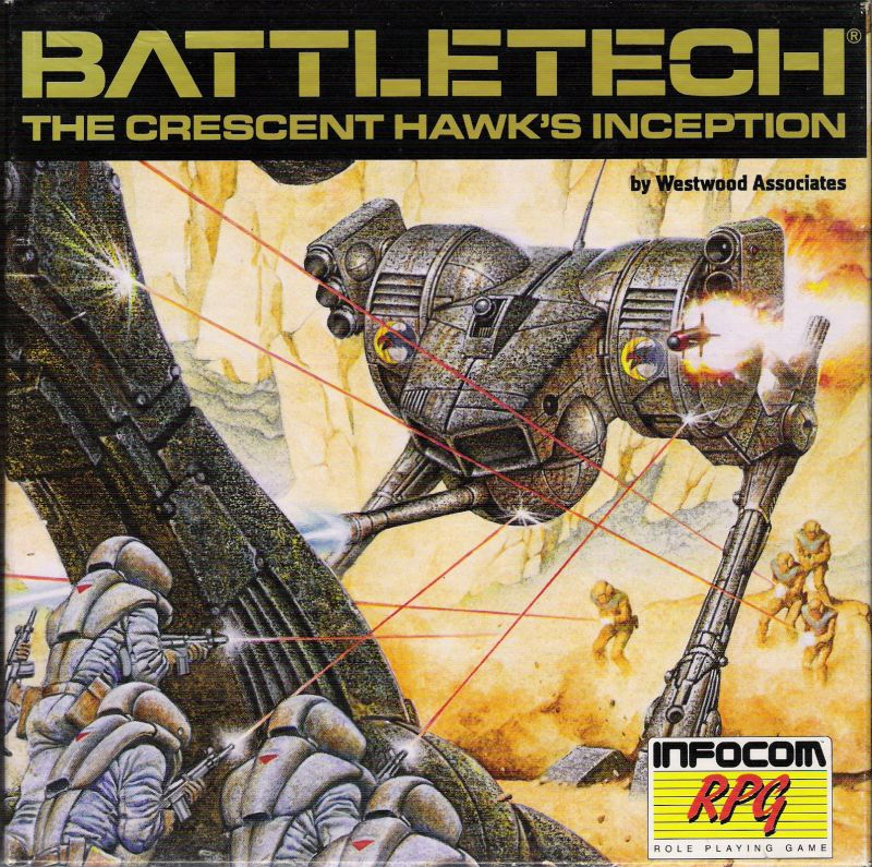 BattleTech: The Crescent Hawk's Inception Commodore 64 Front Cover