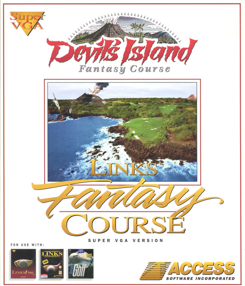 Links: Fantasy Course - Devils Island DOS Front Cover