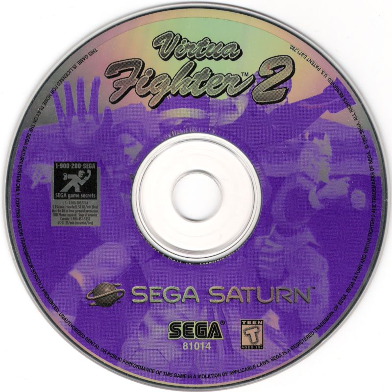 Virtua Fighter 2 SEGA Saturn Media