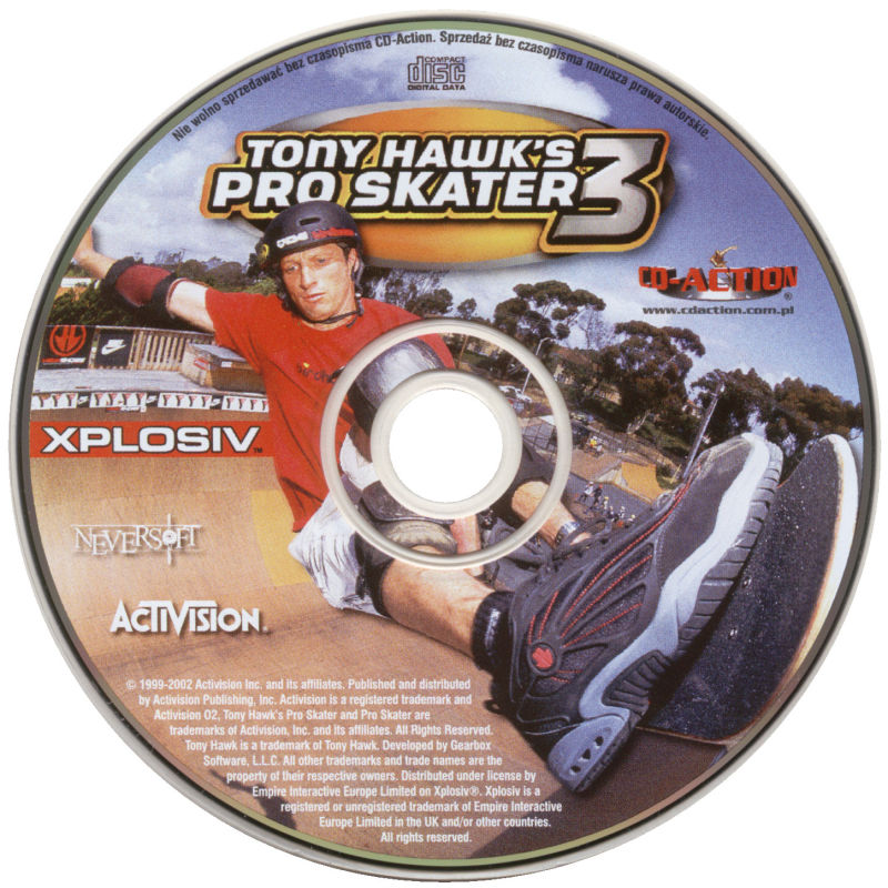 Tony Hawk's Pro Skater 3 Windows Media