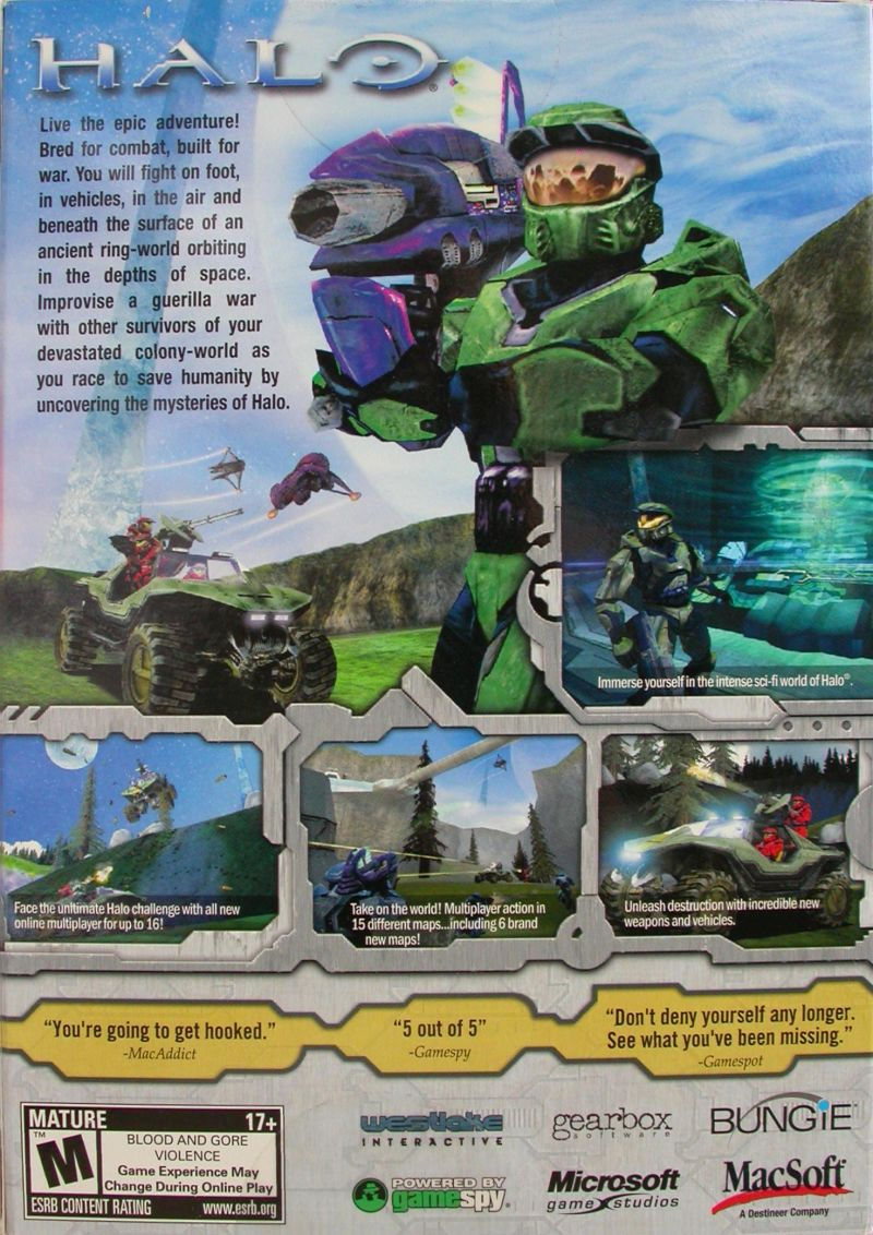 Halo: Combat Evolved Macintosh Back Cover