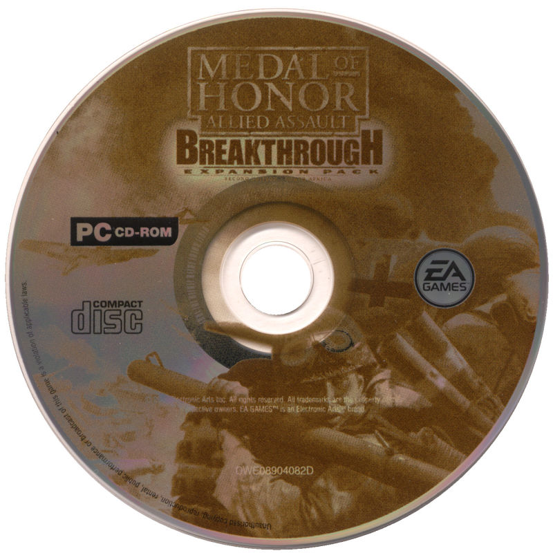 Medal of Honor: Allied Assault - War Chest Windows Media Medal of Honor Allied Assault Breakthrough disc
