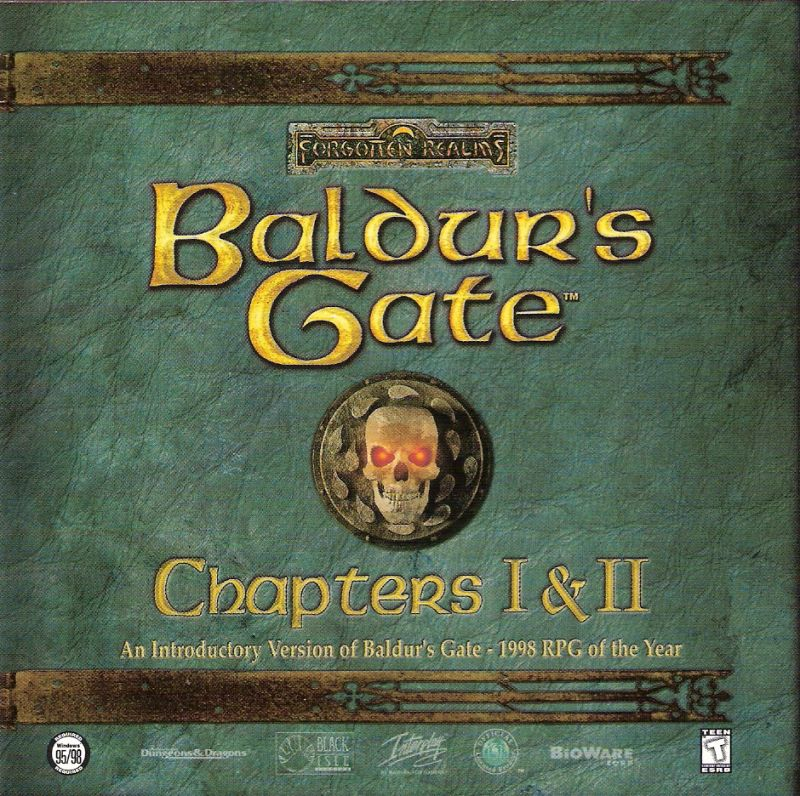 Baldur's Gate Chapters I & II Windows Other Jewel Case - Front