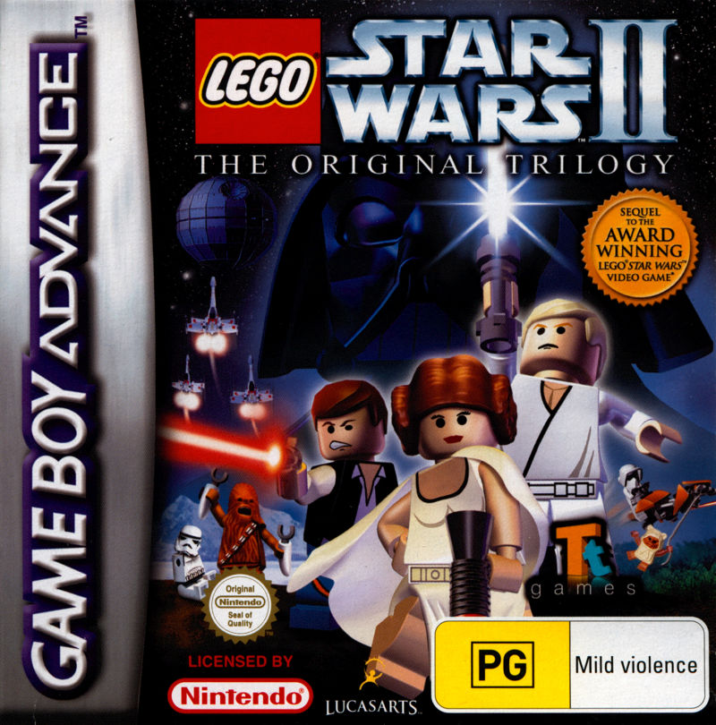 LEGO Star Wars II: The Original Trilogy Game Boy Advance Front Cover
