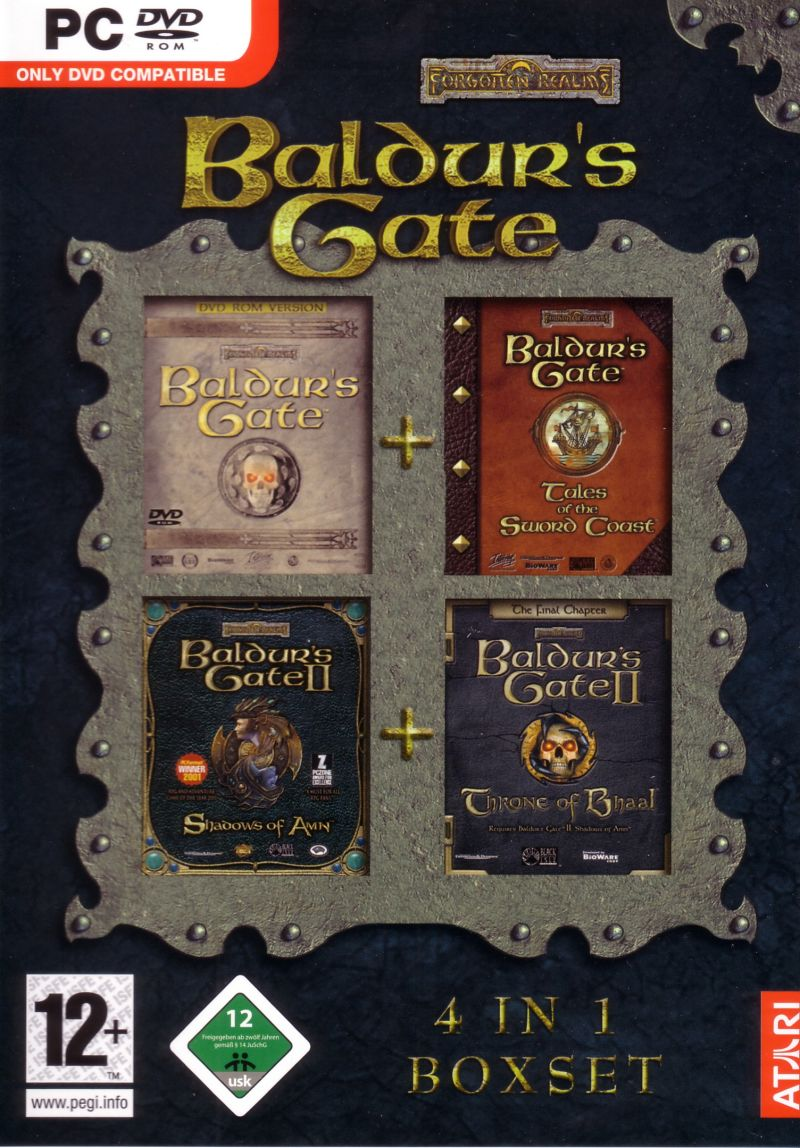 Baldur's Gate: 4 in 1 Boxset Windows Front Cover
