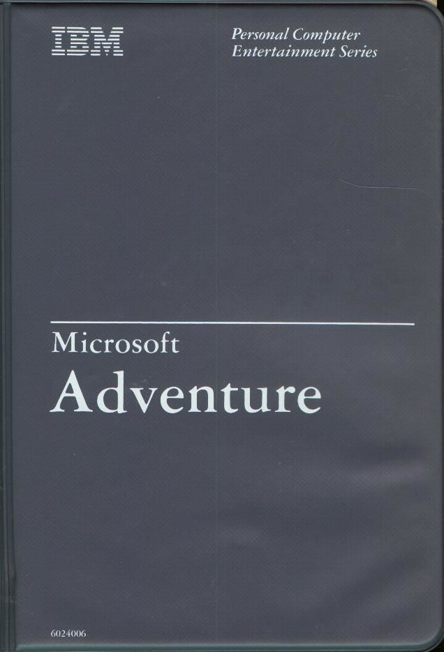 Microsoft Adventure PC Booter Front Cover