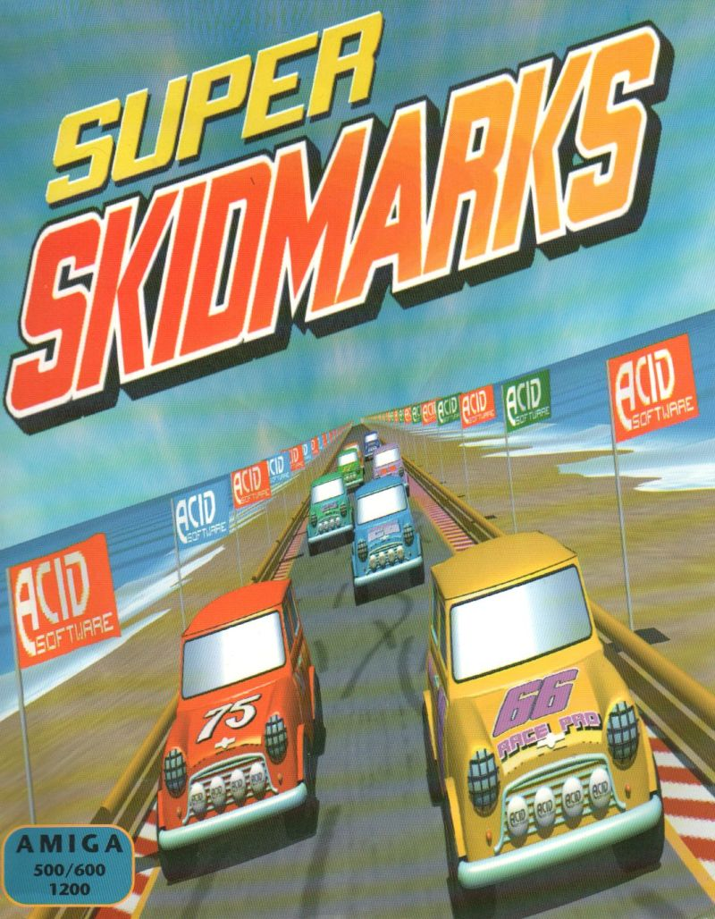Super Skidmarks Amiga Front Cover