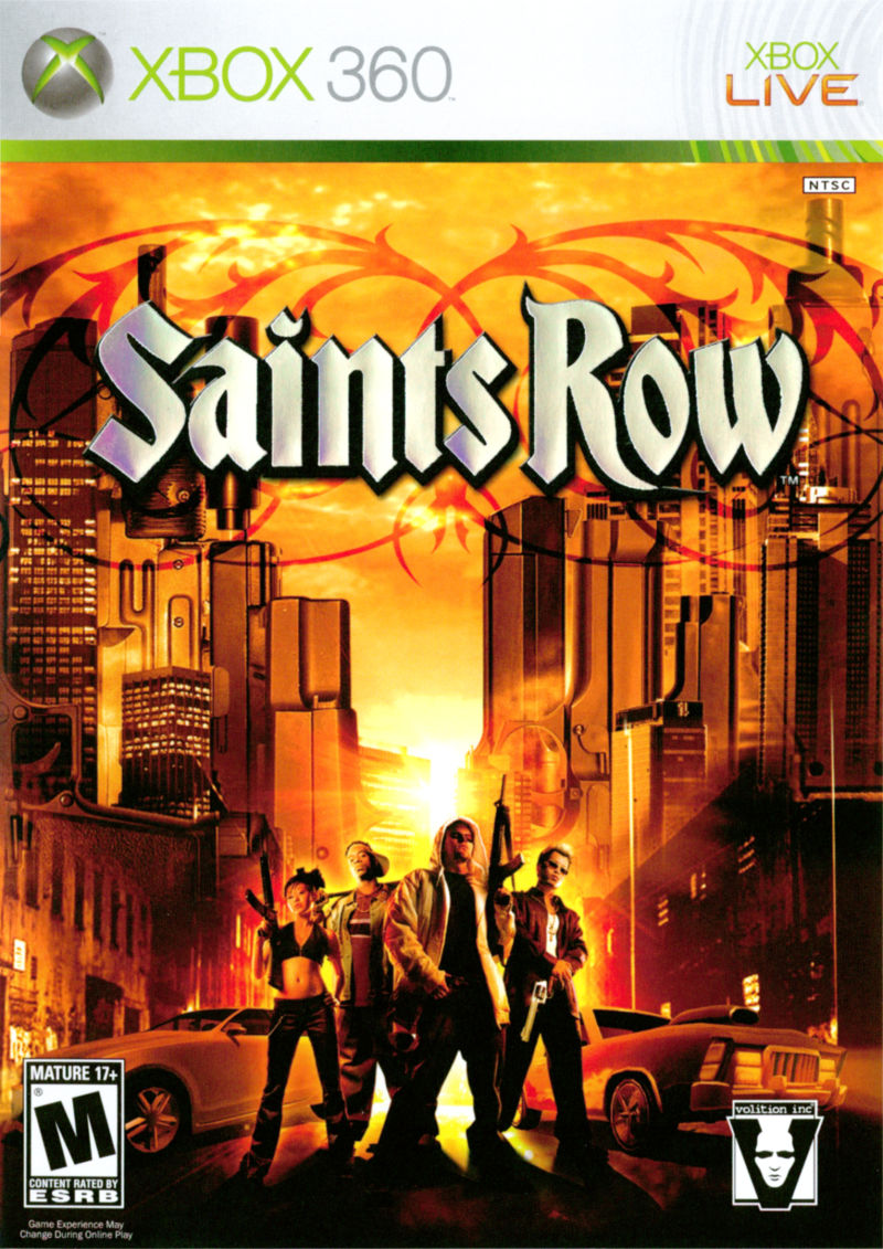 Saints Row Xbox 360 Front Cover