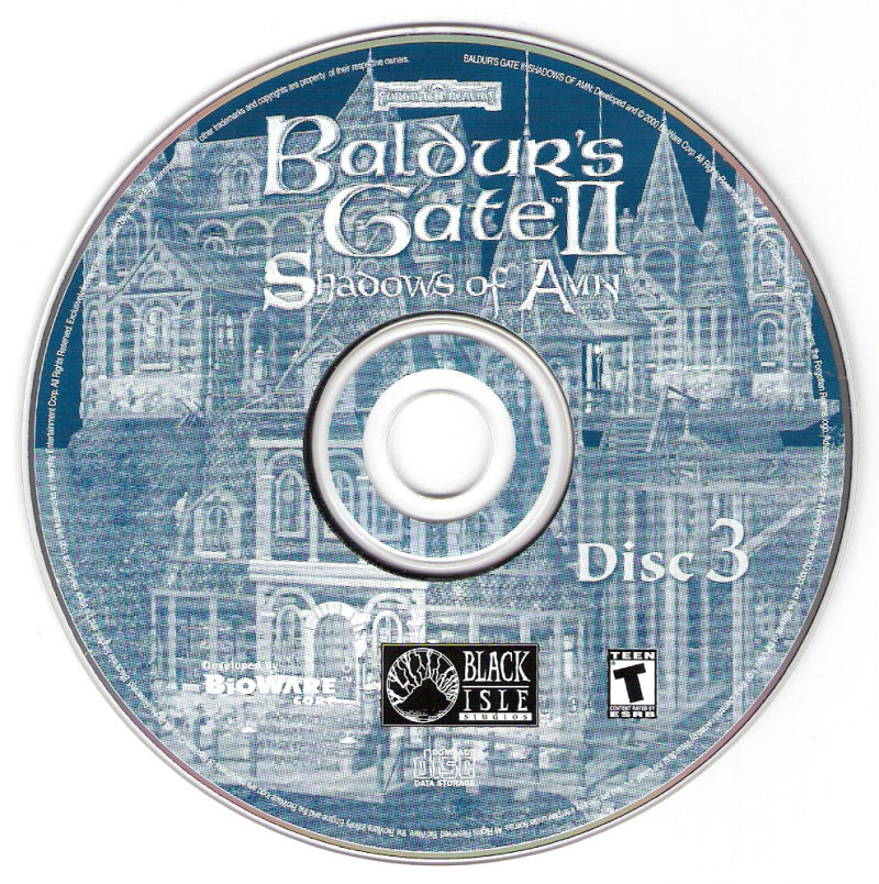 Baldur's Gate II: The Collection Windows Media SoA Disc 3