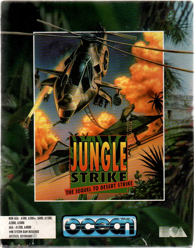 Jungle Strike Amiga Front Cover