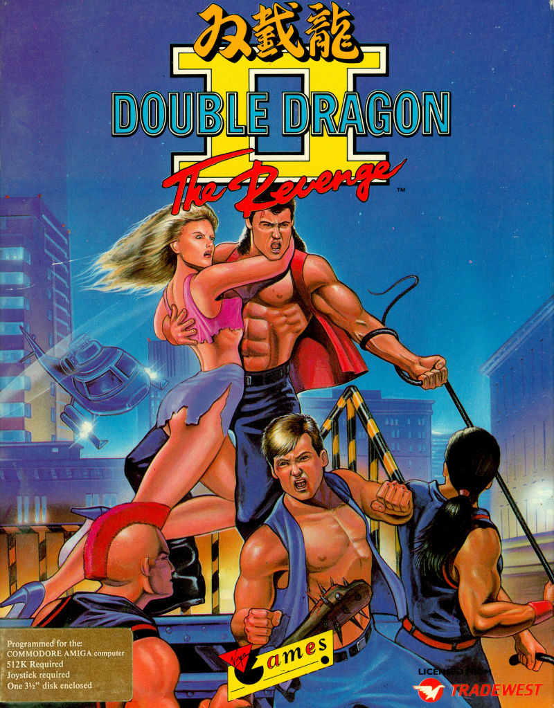 Double Dragon Ii The Revenge 1989 Amiga Box Cover Art Mobygames